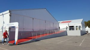 a frame temporary structure tent