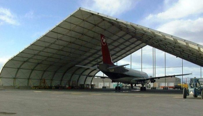 Temporary structure rentals as Aircraft Hangars